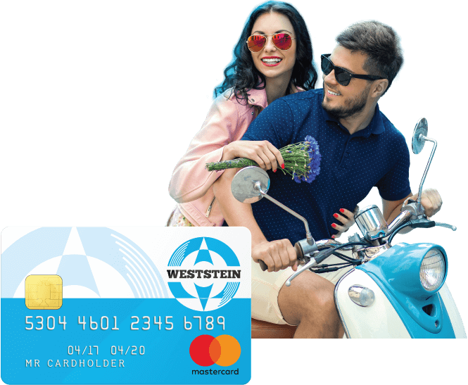 Weststein prepaid Mastercard with online account