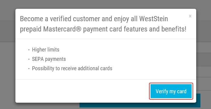verify button in account