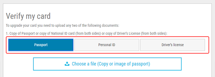Verification step 6: upload your documents