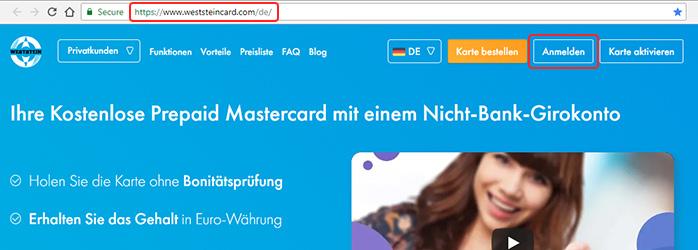 log in to weststein account DE