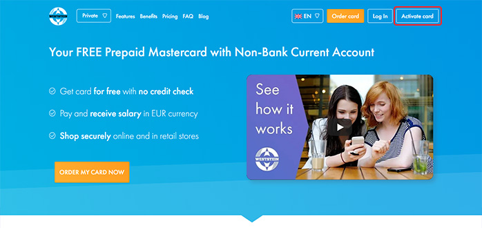 press activate button in Weststein homepage