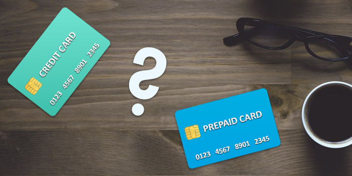 Image of prepaid card and credit card