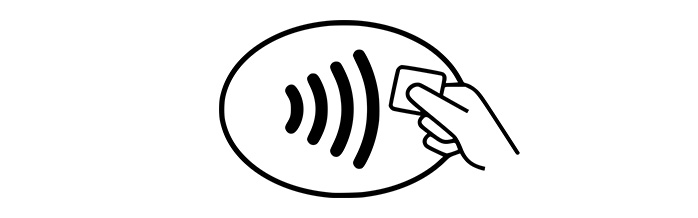 Contactless card symbol